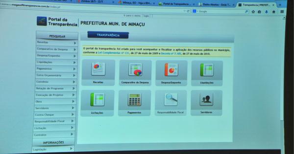 Prefeito de Minaçu é acionado por descumprir liminar que ordenou adequação  do Portal da Transparência    Página Principal    Portal do Ministério  Público do ... 40f792d04955d
