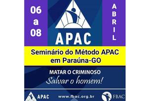 Cartaz de divulgação do seminário, que será realizado em Paraúna