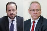Promotores assessores Cássio Roberto Teruel Zarzur e Paulo Henrique Martorini, da Subprocuradoria-Geral de Justiça para Assuntos Jurídicos